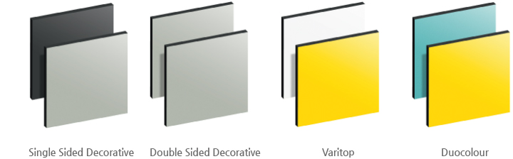 types 이미지 / Single Sided Decorative,Double Sided Decorative, Varitop, Duocolour